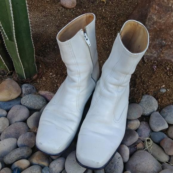 cab56d63068a1 🤑⬇️🚹men Florsheim RARE vintage white ankle boots